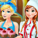 game Anna And Cinderella At The Cupcakes Factory