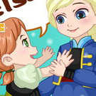 game Anna And Elsa Build Snowman
