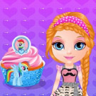 game Baby Barbie Little Pony Cupcakes