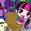 game Chibi Draculaura Halloween Slacking