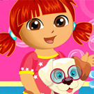 game Dora Puppy Caring