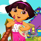 game Dora Schoolgirl Dress Up
