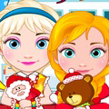 game Elsa And Anna Babies Christmas Shoping