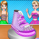 game Elsa And Anna Shoe Decor