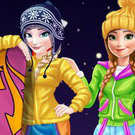 game Elsa And Anna Winter Vacation