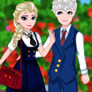 game Elsa And Jack College Date