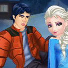 game Elsa and Ken Kissing