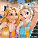 game Elsa And Rapunzel Selfie Time