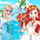 game Elsa At Ariel Wedding