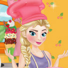 game Elsa Cooking Ice Cream