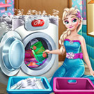 game Elsa Laundry Day