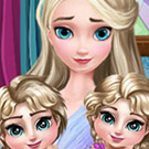 game Elsa Twins Care
