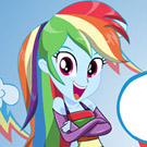 game Equestria Girls Miss Loyalty Rainbow Dash