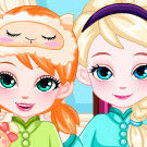 game Frozen Baby Sisters Bedtime