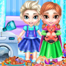 game Frozen Sisters Washing Toys