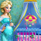 game Pregnant Elsa Maternity Deco