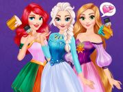 game Princesses Rainbow Dresses