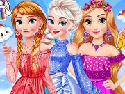 game Princesses Rainbow Dressup