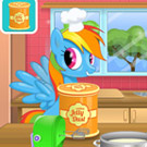 game Rainbow Dash Cooking M&M Cake