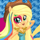 game Rainbow Rocks Applejack Dress Up