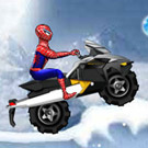 game Spiderman Snow Scooter