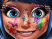 game Superhero Glittery Makeup