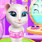 game Talking Angela At Spa Session