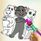 game Tom And Angela Coloring Book