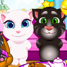 game Tom Angela Cat Makeup Baby Room