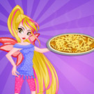 game Winx Flora Cooking Poutine Pizza
